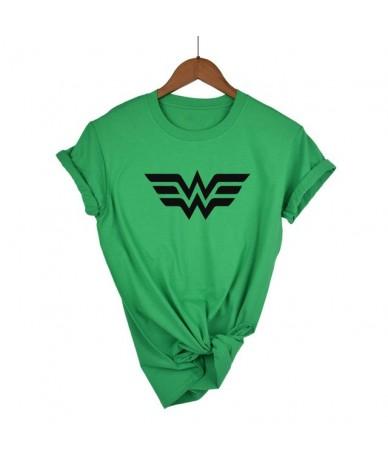 High Quality Elastic Cotton Women T-shirt Anime Wonder Woman T Shirt Superhero Tee Femme Printed Harajuku Manga Tshirt - Gre...
