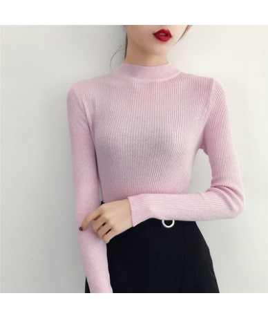 Winter O-Neck Twinkle pullover Ladies Basic Jumper Sweater knit High elasticity Long Sleeve Autumn Sweater Warm Female Tops ...