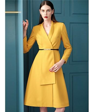 Dress Suits Women Luxury Runway Designer High Quality Blazer Jacket Long Sleeve Elegant Office Lady Work Dresses Autumn Wint...