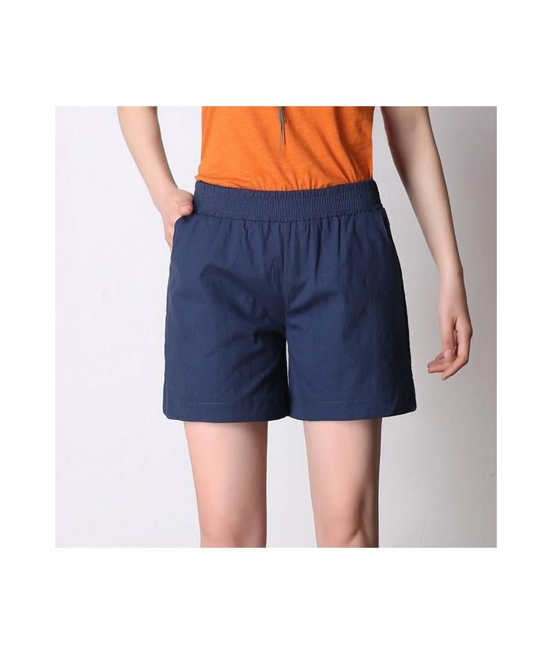 Linen Shorts 2019 Women Summer High Waist Shorts Casual Loose Plus Size Side Split Pockets Womens Shorts Feminino S-4XL - na...