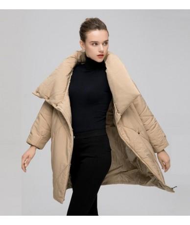 Women Winter Jacket Warm Parka 2018 Fashion Winter Coat Women Parkas Female Jacket Plus Size Outwear - Khaki - 4V3020855537-2