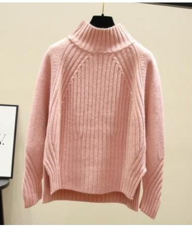 Turtleneck Pullover Women Cotton Jumper 2019 Autumn Winter Korean Trui Jersey Mujer knitted Pull Femme Hiver Streetwear Swea...