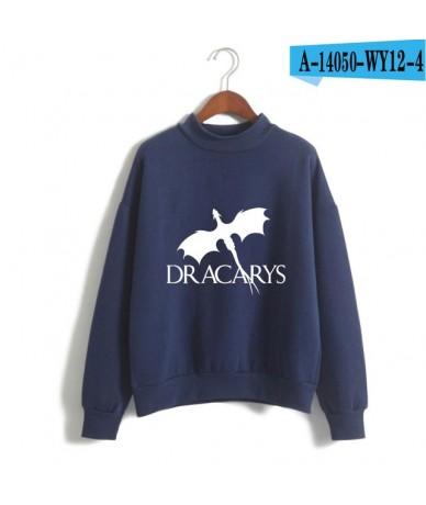 Dracarys Fashion Printed Turtleneck Sweatshirts Women/Men Long Sleeve Sweatshirts 2019 Hot Sale Casual Streetwear Clothes - ...