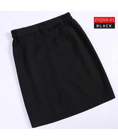 Women Work Skirt Sping Summer Solid Wear Formal Pencil Midi Skirt Bodycon Slim High Waist Pencil Skirt Sexy Mini Office blac...