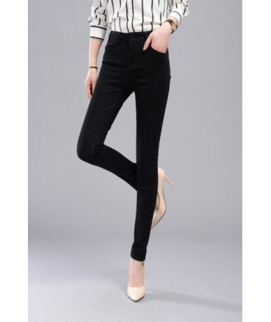 New Fashion 26-34 High Waist Jeans High Elastic Plus Size Women Jeans Woman Femme Washed Casual Skinny Pencil Denim Pants - ...