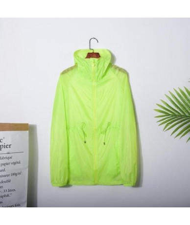 Summer Jacket Women 2019 Zip Up Hoodie Jacket Woman Casual See-through Windbreaker Ladies Sunscreen Tops YY162 - Green - 434...