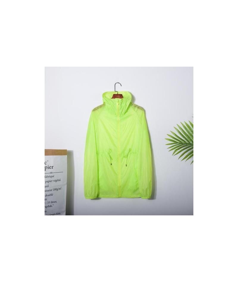 Summer Jacket Women 2019 Zip Up Hoodie Jacket Woman Casual See-through Windbreaker Ladies Sunscreen Tops YY162 - Green - 434...