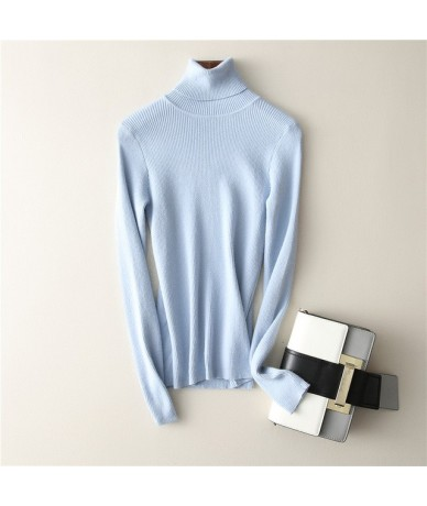 Women Sweaters And Pullovers For Office 2018 Winter Knitted Jersey Long Sleeve Turtleneck Tops Female Knitwear Autumn Pull F...