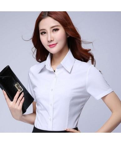 Plus Suze 4XL 5XL Summer Women Shirt 2019 New short sleeve ol elegant tops and blouses white chiffon shirts office work wear...