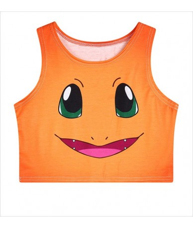Harajuku Sexy Girls Cosplay Costume Pocket Monsters Pikachu / Charmander / Squirtle / Bulbasaur Crop Tops Vest Tank Tops Shi...