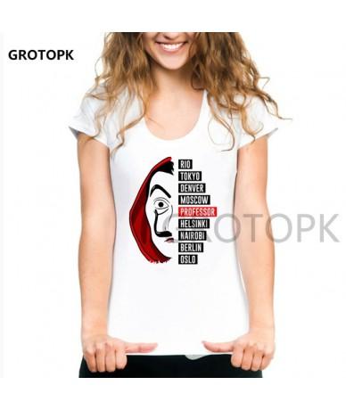 House of Paper Money Heist La Casa De Papel Women T Shirt Funny Design Cotton O-neck Punk Short Sleeve Custom T-shirt Femme ...
