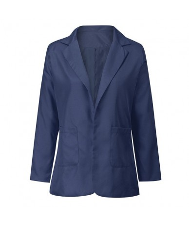 office long blazer shoulder pad Women OL blazers and jackets Autumn Winter Long Sleeve Coat Cardigans Suit Red Long Jacket -...