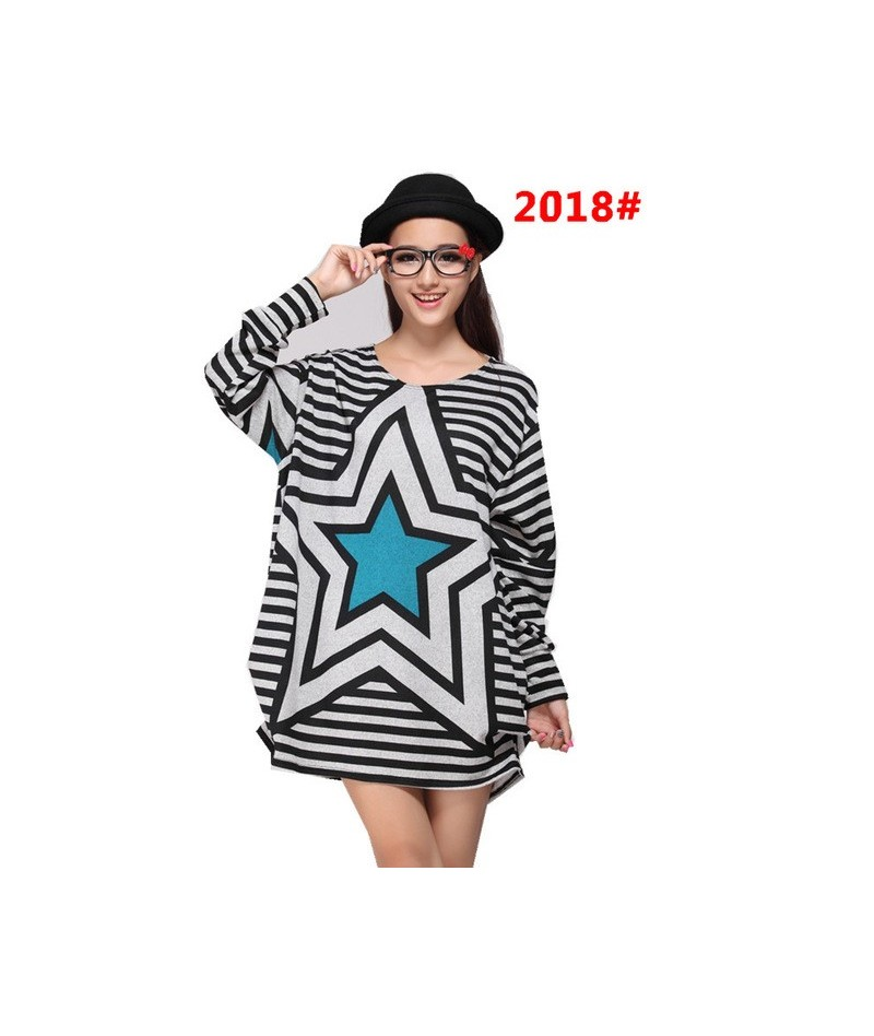 2018 New Fashion Women winter Pullovers Hollow Out Basic Knitted Sweaters Loose cat Knitwear plus size loose size tunic big ...