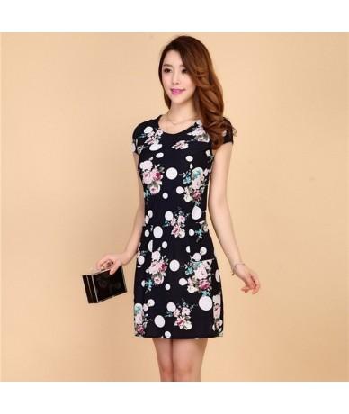 2019 Women dress summer Casual Plus Size Slim Tunic Milk Silk print Floral dresses sexy bodycon sundress vestidos mujer - 61...