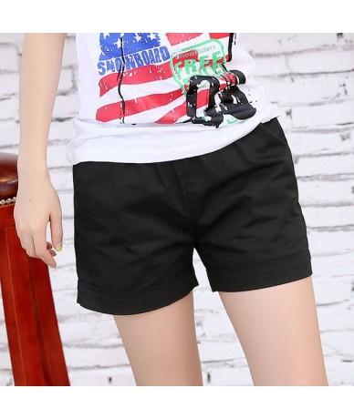 women shorts casual style ladies shorts hot sale plus size cotton female shorts femininos new 2017 summer fashion - Black - ...