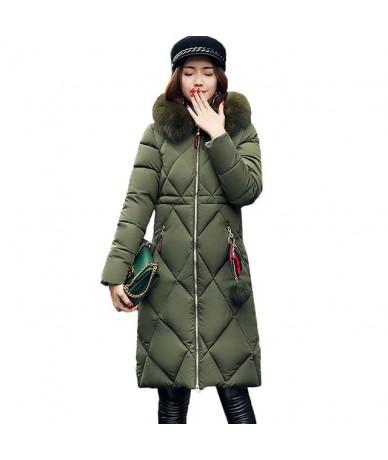Big Fur Winter Coat Thickened Parka Women Stitching Slim Long Winter Coat Down Cotton Ladies Down Parka Down Jacket Women 20...