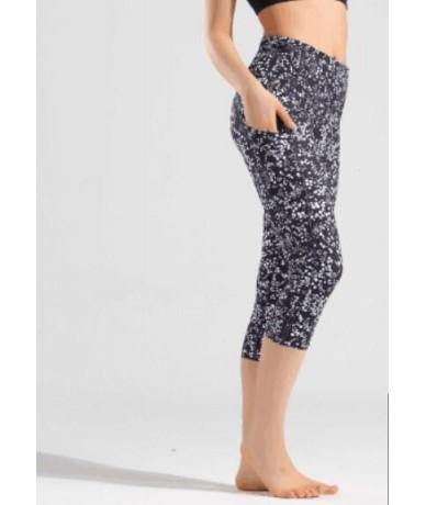 print leggings stretch waist pants capris pants Pencil skinny Pants black blue green wine red capris - printing - 4630996692...