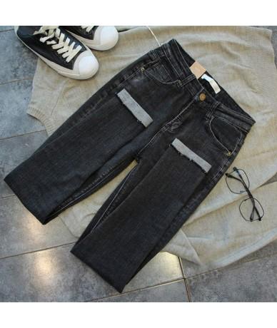 Plus Size 4XL Summer High Waist Jeans Woman Black Leggings Skinny Jeans Vintage Pencil Pants Trousers Women Denim Jeans C419...