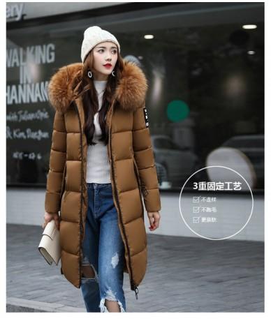 New Autumn Winter Women Plus Size Fashion Cotton Down Jacket Hoodie Long Parkas Warm Jackets Female Winter Coat Clothes MC19...