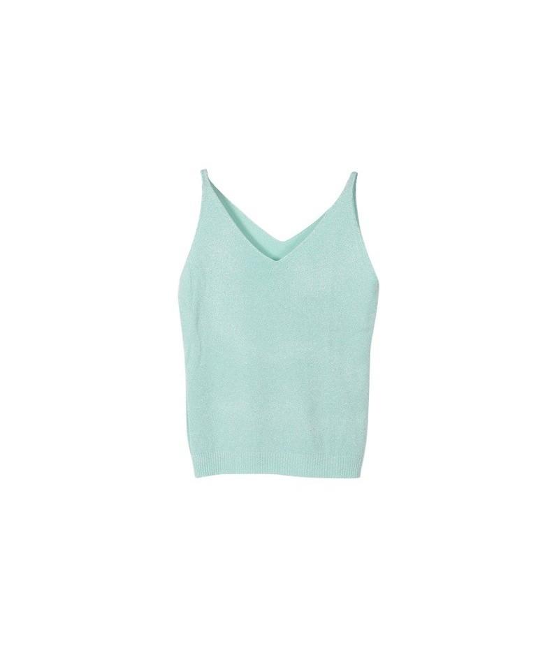 Newest Fashion Deep V-Neck Sexy Strappy Sleeveless Vest Women Tank Casual Tops T Shirt - QL - 4B3015122466-3