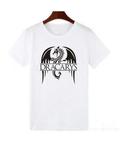 Dracarys T Shirt for Women Game T-Shirts Summer Mother of Dragon Harajuku Top Tees Vogue Clothes - WTQ0269-white - 4U4146774...