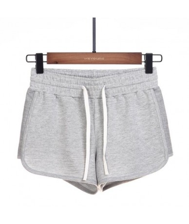 2019 Spring Summer Shorts Women Candy Color Drawstring Elastic Waist Mini Short Pants Casual Cotton Shorts Shorts Womens - G...