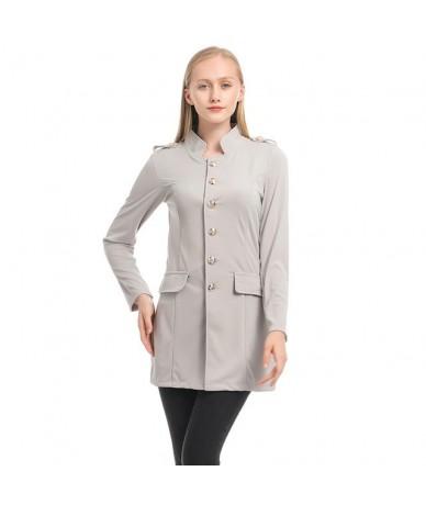 Spring Autumn Suit Blazer Women Casual Single Breasted Women Long Jackets Elegant Long Sleeve Blazer Outerwear 2019 New - Gr...