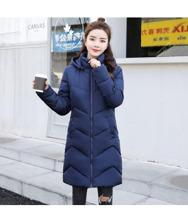 New 2019 Winter Jacket Women Cotton Coat Hooded Down Jackets Female Long Parkas Fashion Thick Warm Outerwear chaqueta mujer ...