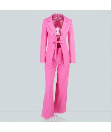 Formal Pantsuits Work Fashion 2 Piece Pant Suit Female Women Suits Set Career Jackets & Pants Two-piece Pants Trouser - Pink...