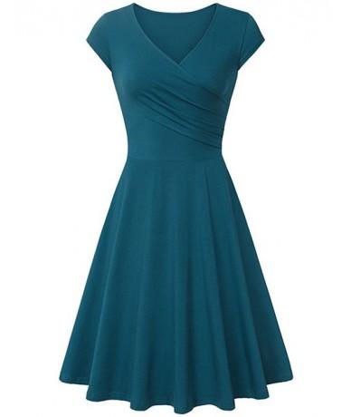 Spring Summer Office Ladies Dress 2019 Casual Short Sleeve V-Neck Slim Women Dresses Plus Size 3XL Red Balck Gray Dress Vest...