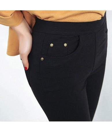 2018 New Arrival Women Casual Cotton Full Length Leggings Autumn Letter Printed Slim Leggings Plus-Size S-5XL - Black - 4B38...