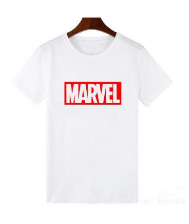 NEW MARVEL T Shirt Woman Short Sleeves Casual T shirt Graphic Tees plus size - WTQ0067-white - 4S3090858452-1