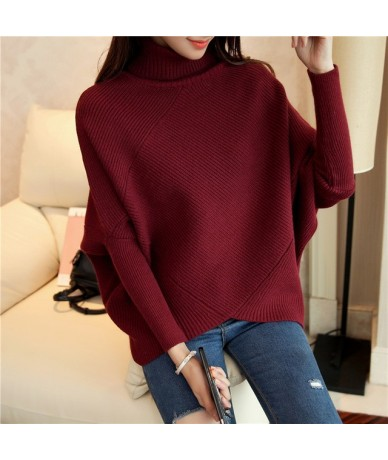 Female winter sweater loose turtleneck sweater 2019 irregular Korean female backing sweater coat thick - R - 443913930141-1