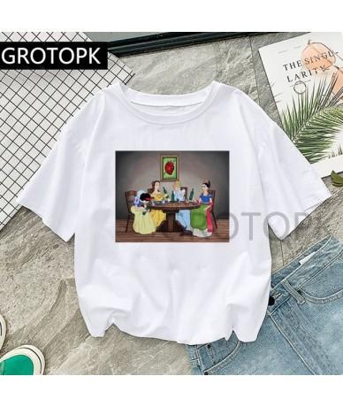 Dark Snow White Prince and Princess Spoof Harajuku T-shirts Women Clothes 2019 TShirt Summer Streetwear Tops Tees Female T-s...