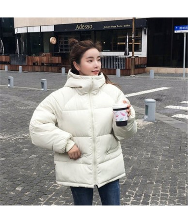 Thick Warm Hooded Down Cotton Parkas Women Winter Coat Cotton Padded Jacket 2018 NEW Loose Short Outerwear Female Clothing -...