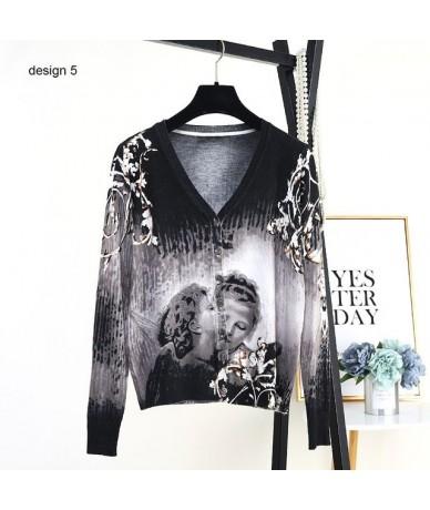 new 2019 Spring autumn cardigan Korea style women sweater thin long-sleeve knitted sweater women clothing B-074 - design 05 ...
