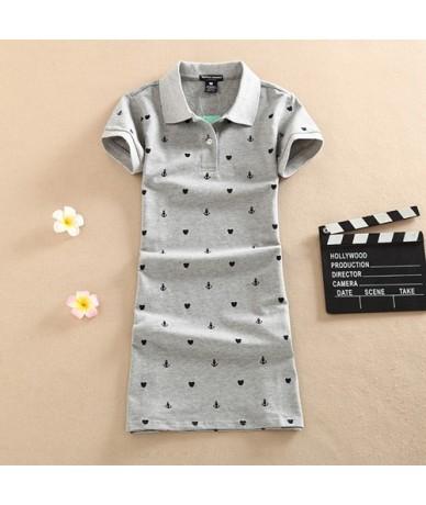 New 2019 Polo Cotton Casual Mini Vestidos Short T Shirt Dresses Women Floral Print Party Dress Summer Slim Vestido De Festa ...