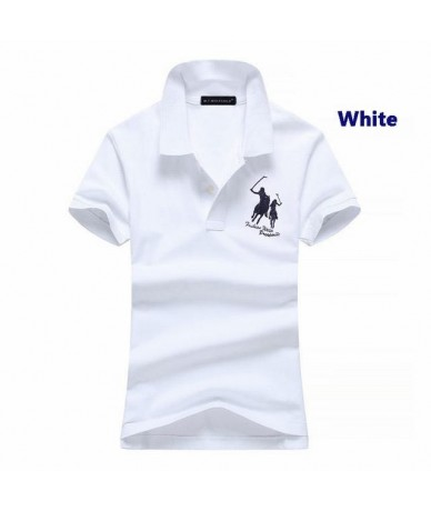 Fashion style 2018 Summer New Womens short sleeve horsebrand polos shirts casual womens lapel polo shirts cotton slim lady t...