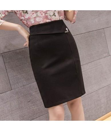 women skirts office lady bodycon skirts plus size korean high waist black stretch skirt woman women work wear Sequined skirt...