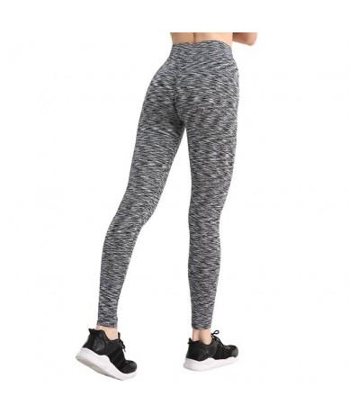 Women Push Up Leggings Activewear Workout Leggings Slim Leggings Polyester V-Waist Jeggings Women Pencil Pants - Stripe Blac...