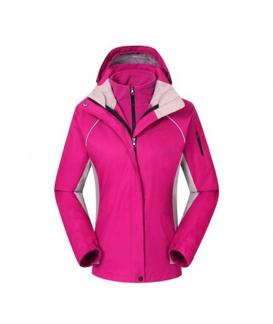 2 pcs women spring winter down sportin snow coat candy color snow clothes Wind and Water proof outdoors with hoodie jacket -...