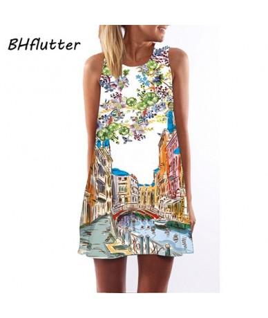 Women Dresses Digital Print Summer Dress 2017 New Fashion Boho Style Beach dress Dashiki Hippie Dress Mini Vestidos - pictur...