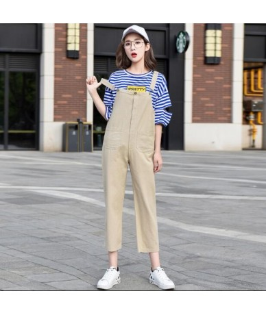 Candy Color Women Denim Pants Jumpsuits 2018 Spring Autumn Fashion Loose Suspenders Overalls Casual Jeans Rompers Female - K...