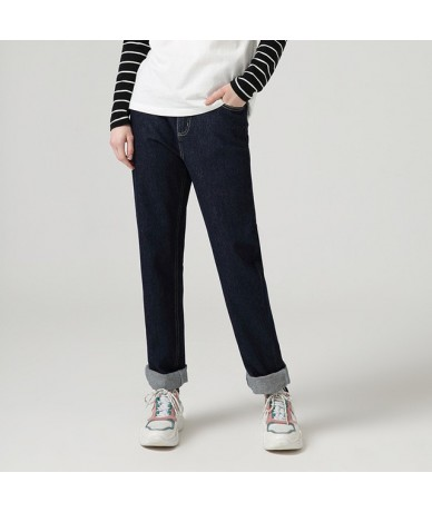 Jeans Harem For Women Loose Vintage Harem Straight Jeans Pants High Waist Cotton Jean Female Boyfriend Denim Trousers - Blue...