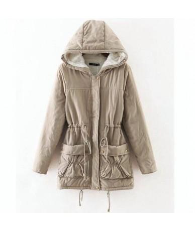 2018 Harajuku Winter Padded Jacket Woman New Slim Lamb Fleece Hooded Coats Hooded Medium Long Womens Cheap Parka Feminino Ca...