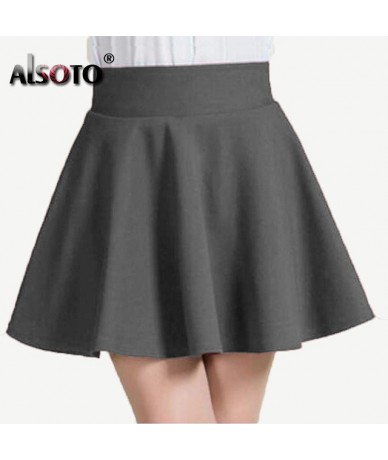 Summer and winter Skirt for Women Fashion Skirts Womens High Waist Sexy mini faldas jupe Black and Red Saia pleated skirt - ...