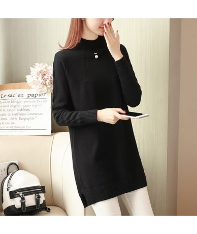 Cheap wholesale 2018 new summer Hot selling women's fashion casual warm nice Sweater L395 - Black - 4G3017389876-2