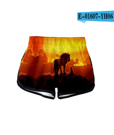 2019 NEW Film glory kingdom King The Lion King Simba 3D Summer Women Casual Harajuku Cute girl Hot Sale Sexy Shorts XXL - pi...