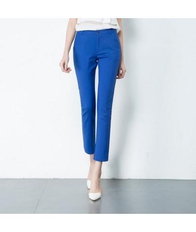 New Fashion Women's Elegant OL Stretch Pants Big Size Ladies Elastic Waist Casual Trousers Female Office Work Cotton Pants -...