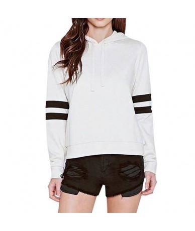 Casual Winter Warm Hip Hop Boho Black Women Hoodies Loose Hooded Stripe Print Streetwear Tops Female Fashion Active Sweatshi...